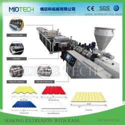 UPVC/PVC plástico+PMMA/ASA+PC/PP ondulados/baldosas esmaltadas /el bambú, techo/Espuma de teja de onda de la Junta hojas/Precio máquina de hacer de extrusión