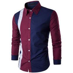 Les hommes Chemise à manches longues en coton robe tee-shirts de remise en forme de bureau d'affaires