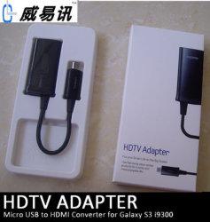 2013 Nouveau produit pour Samsung Galaxy S3 Câble de sortie TV MHL avec 11broche de sortie de l'adaptateur
