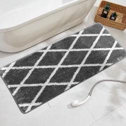 수분 흡수성 플러피 이지 클린 100% 폴리에스테르 욕실 미끄럼 방지 물세척이 가능한 편안하고 부드러운 극세사 목욕 매트