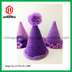 Paarse Party Hat Crochet Pattern for Kids (CPA-14-1209)