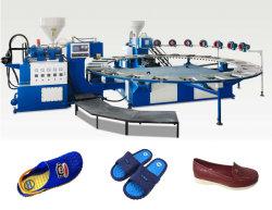 Commerce de gros plastique informatisé des patins de moulage par injection de moulage par soufflage sandale Flip Flop Making Machine