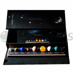 Os Planetas, polido Olho do Tigre Semi-Precious Natural stones Reiki Star bola de cristal, estrelas fixas, casamento dom, Decoração de brinquedos de crianças