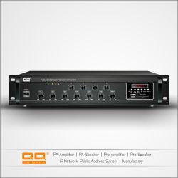 4 zones MP3 /FM Amplificateur mélangeur 480W Bluetooth pour haut-parleurs de plafond