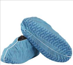 Surchaussure jetable de qualité supérieure, inférieure antidérapante, bleu