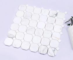 中国はバスルームの装飾にナチュラルストーン大理石モザイクを使用している