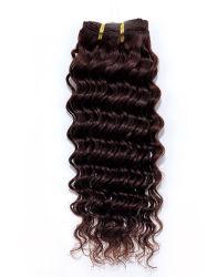 Onda profunda Remy Extensões de cabelo humano Chinês/Brasileiro/Cabelo humano indiano