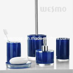 Transparent Polyresin Salle de bains Accessoires (WBP0345B)