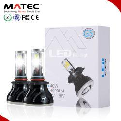Voyant LED lumineux Headlight-Super voiture Kit de Projecteur 8000lm puce crie 40W à LED de couleur blanche de l'aluminium une ampoule de phare de voiture