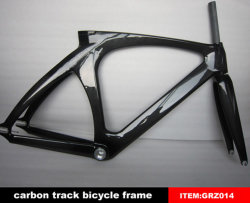 Carbon-Faser-Fahrrad-Rahmen-Schienen-Fahrrad-Rahmen-örtlich festgelegter Zahnrad-Rahmen-einzelner Geschwindigkeits-Rahmen-Superlicht