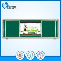Magnetische grüne schiebende Tafel/Tafel mit LCD-interaktivem Panel integrierten