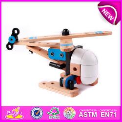 Plano de brinquedos de madeira promocional para crianças pequenas Plano de brinquedos de madeira para crianças, Modelo de combinação engraçadas brinquedos para bebê W03b016