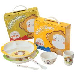 Articoli per la tavola melammina del bambino di plastica d'alimentazione dell'alimento caldo di vendita della scimmia della scatola