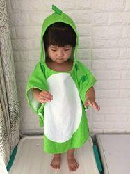 Kinderen Bad handdoek Robe Kid Hooded Beach Poncho Dinosaur Patroon