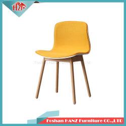 Demi-couvercle tissu de plastique avec mobilier de maison en bois massif de la jambe chaise de salle à manger