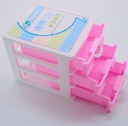 Draagbare Office Makeup Organizer 3-ladekast Mini plastic opslag Desktop Mini laden voor kleine onderdelen display