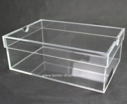 Custom acrílico transparente de plexiglás caja de zapatos