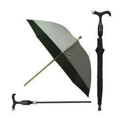 Gran paraguas de la caña de bastón con empuñadura Waterpro PVC exterior compacto paraguas viajes de negocios