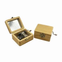 Di Music Box di legno personalizzato mini manovella
