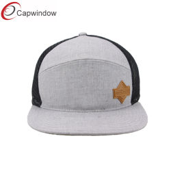 Heather Gray 7 Instrumentos Snapback Hat com couro Capítulo
