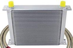 Горячих алюминиевых Racing радиатор охладителя масла для автомобилей (EVO, S13, S14, S15, 240SX, Supra, JZA, гражданской, постоянного тока DC25)