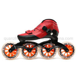 ローラーの子供のスケートで滑る靴を競争させるOEM PUの網布