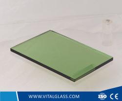 5mm verre réfléchissant vert foncé pour le verre trempé