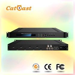 8en1 numérique HDMI pour DVB-C/t d'appui du modulateur à faible retard