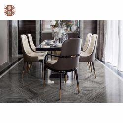 Foshan fabricante de muebles de madera maciza con pintura negra silla de comedor para el hogar