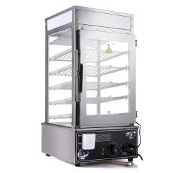 Panela a vapor 5 Tier visor em vidro Showcase, Bun usado mini-cozinha a vapor