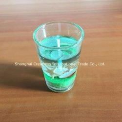 De mooie en Kleurrijke Nieuwe Kaars van het Gel van de Afzet voor Verkoop met de Houder van het Glas