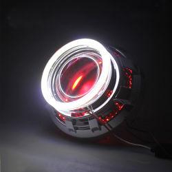 Гибкая проходит автомобильная DRL работает указатель поворота Angel глаза белый желтый светодиодный индикатор фар системы освещения дневного движения газа 30 см 45 см 60 см