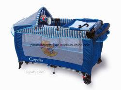 Moins cher bébé pleine fonction pliable Lit bébé Baby cot Playyard Playpen crèche de couchage avec un design coloré et certificat FR716