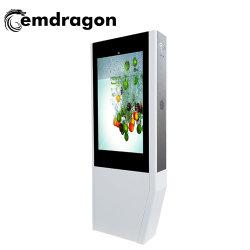 Cadre Photo Air-Cooled Android panneau écran vertical-de-chaussée en mettant en évidence la publicité de la machine kiosque de 50 pouces LCD numérique de la promotion de Bus de joueur de la publicité