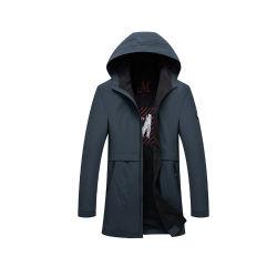 OEM 맞춤형 도매 도매 드로스트링 후드 트렌치 코트/남성용 스트리트 웨어용 재킷