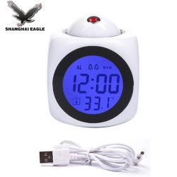 Salle de précision numérique de température d'alarme horloge Projecteur de calandre