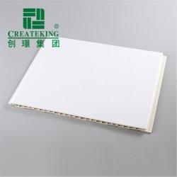 Grãos de madeira branca mármore decorativa do painel do teto de PVC laminado de PVC