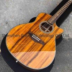 Vue en coupe de bois de Koa K24EC Classic Guitare acoustique en ressources naturelles