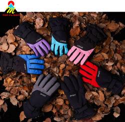 Activités sportives de plein air fonctionnels de base, des gants de ski circonscription gants avec bouchon en plastique et panneau Adjustive