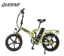Queene 또는 직접 공장 판매 뚱뚱한 타이어 바퀴 Ebike 500W 48V 타이어 전기 자전거 20inch