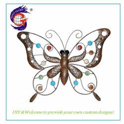 Bela Butterfly Dom Metal Home decoração de paredes