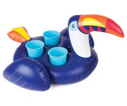 Aufblasbarer Toucan Pool-Getränk-Halter schwimmt für 4 Cup