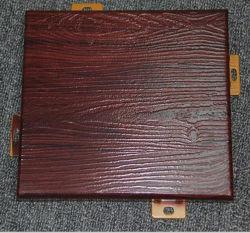 Surface du grain en bois recouvert de feuille en aluminium pour revêtement mural AA3003