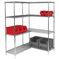 5つの層の調節可能な移動式金属の棚