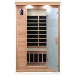 Un Sauna sec Salle de bain de pure de la pruche pour 2 personnes utiliser