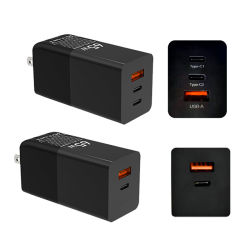2020 nouvelle conception 3 ports GaN 65W pd QC Multi Port USB chargeur intelligent