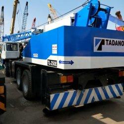 使用されたTadanoクレーン25t Tl250e移動式トラックは25t持ち上がる機械装置を伸ばす