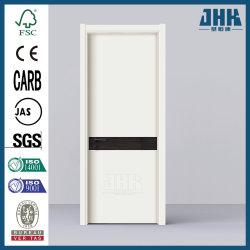MDF núcleo hueco baño decorado interior puerta deslizante (JHK PVC-P32).
