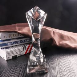 Trophée de verre Crystal Craft pour cadeau de Noël