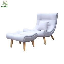 Nouvelle chaise de salon moderne de gros PU L'habillage et les jambes en bois